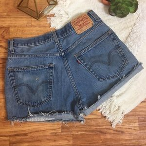 High-Waisted Levi's Cutoffs Jean Shorts